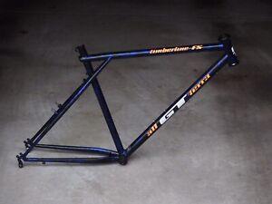 Retro GT Timberline FS Mountain Bike Frame - Triple Triangle - Splatter Paint