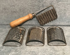 3 Small Hand Held Cheese Graters & 1 Rippled Slicer With Handle