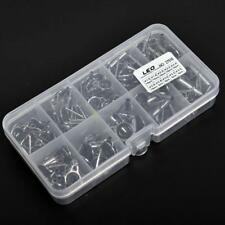 80Pcs Fishing Rod Guide Guides Tip Repair Kit Diy Eye Rings W/ Plastic Fish Box