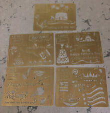 The Stencil Collection 2007 Solid Brass STENCILS New March April May June July