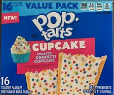 NEW KELLOGGS POP TARTS CUPCAKE FROSTED CONFETTI 27 OZ BOX 16 TOASTER PASTRIES