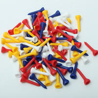 Lot of Approx. 100pcs MIXED COLOUR PLASTIC GOLF TEES (36mm Small ) for Driver