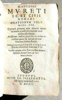 ANTONII MURETI CIVIS ROMANI ORATIONUM VOLUMINA DUO PERGAMENA GESUITI LIONE 1612