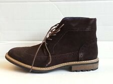 Joseph Abboud Lewis Men Wingtip Chukka Boot Size 8.5 Chocolate Suede New in box
