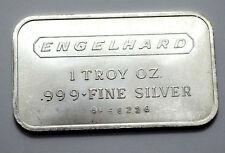 ENGELHARD 1 OZ TROY SILVER .999+ FINE SILVER BAR HORIZONTAL W/ Serial #