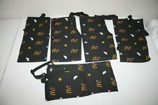 Lot Of 5 McDonald's Apparel Collection Texas Theme Black Apron Uniform