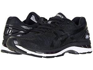ASICS T801N.9001 GEL-NIMBUS® 20 Mn's (2E) Black/White/Carbon Mesh Running Shoes