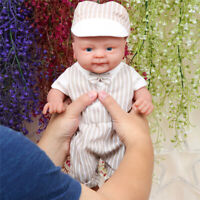 "14""1.8KG Lifelike Lovely Smile Baby Doll Silicone Reborn Boy Waterproof Doll"