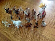 Lot of 10 Bone China Ceramic Porcelain Boxer Collie Chihuahua Shepard Dog Japan