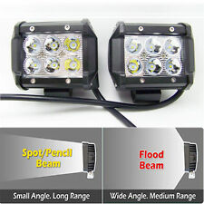 "2x18W 4"" 6 White CREE XBD LED 6500K Off Road SUV Work Spot Light Lamp UK"
