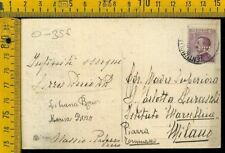 Regno O 356 Michetti perfin su cartolina di Alassio