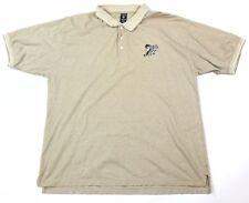 Vintage 1997 Warner Bros Taz Golf Polo Shirt Size XXL Looney Tunes Khaki