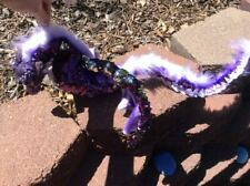 Purple Amethyst Crystal Quetzalcoatl-Handmade Posable Art Doll