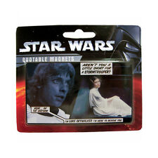 """STAR WARS - QUOTABLE MAGNETS - """"I'M LUKE SKYWALKER I'M HERE TO RESCUE YOU"""" - NEW"""