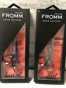 NIB- Fromm Pro Invent Shear and Thinner Set IN GUN METAL