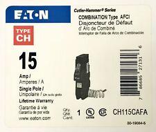 EATON CUTLER HAMMER CH115CAFA 15 AMP Type CH AFCI ARC Fault Circuit Breaker