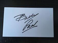 BILLY PAUL - CHART TOPPING SINGER - ME & MRS JONES - SIGNED WHITE CARD