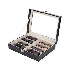 Brillenkoffer Brillenbox Brillenaufbewahrung Brillenpräsentation FÜR 8 Brillen