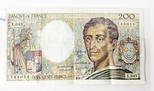 1987 Banknote 200 Francs Deux Cents Two Hundred Banque France Bank Note A736