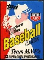 Rite Aid 1988 Topps Baseball Team MVP's Limited Edition Factory Set of 33 Cards