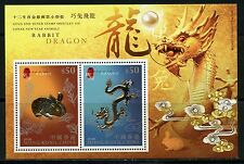 HONG KONG SCOTT#1761 RAM/MONKEY GOLD/SILVER SOUVENIR SHEET LOT OF 20  MINT NH