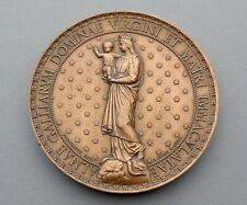 French, Antique Religious Large Medal. Saint Virgin Mary & Jesus. 1860. By Penin