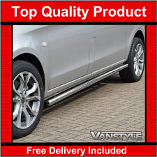 MERCEDES VITO W447 Compact & Long 14 Polished Stainless Steel Side Bars Chrome