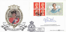 1996 QUEENS 70th B'DAY LABEL SIGNED WING COM BARRETT BENHAM FIRST DAY COVER SHSa