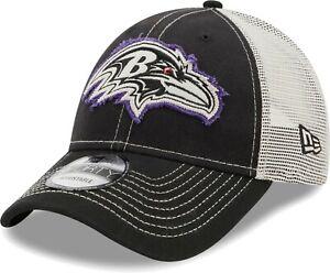 Baltimore Ravens Hat New Era 9Forty NFL Snapback Cap Black Purple White Mesh