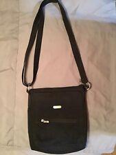 BAGGALLINI Black Crossbody Zip Everything Purse Bag Handbag Organizer Tablet