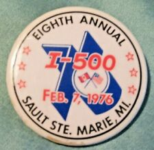 1976 I-500 Snowmobile Race Entry Pin