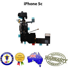 for iPhone 5C - CHARGING PORT AND AUDIO FLEX CABLE RIBBON - BLACK