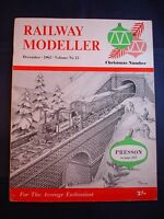 1 - Railway modeller - December 1962 - Contents page shown in photos