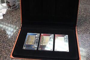 1999 Upper Deck 24k Gold Michael Jordan 3 Card collectors set