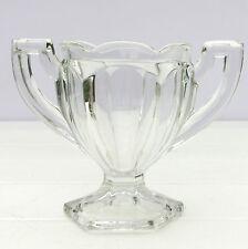 VETRO VINTAGE Stile Art Deco Trofeo SUGAR BOWL