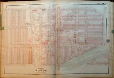 ORIGINAL 1923 G.W. BROMLEY PHILADELPHIA PA OLNEY LINDLEY THEATER ATLAS MAP