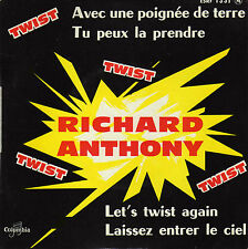RICHARD ANTHONY LET'S TWIST AGAIN FRENCH EP CHRISTIAN CHEVALLIER