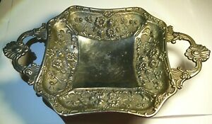 Bowl Silver-Plate Imperial Russia Hallmarks Brass