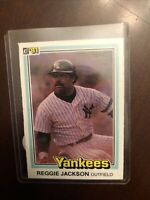 1981 Donruss New York Yankees Baseball Card #468 Reggie Jackson
