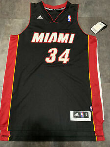 NEW Adidas Miami Heat Ray Allen Black Jersey Swingman M