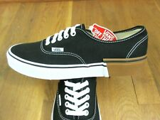 Vans Authentic Mens Gum Block Canvas Skate Boat shoes Black White Size 13 NWT