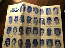 1975 Detroit Tigers Baseball Ticket Roster Schedule