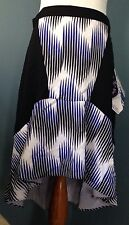 Peter Pilotto For Target Size 8 Black/white/blue A-line Flowing Skirt NWT