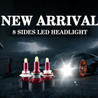 8 Sides CSP H11 H1 H3 H7 H8 H9 880 881 H27 LED Headlight 9005 9006 5202 9012