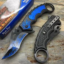 Dark Side Blades Spring Assisted Blue Dragon 2Tone aluminum Pocket Knife