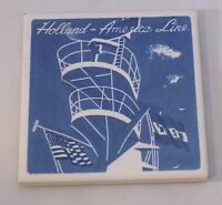 "Collectible Holland America Line Ceramic Coaster Tile  ""Crow's Nest"""