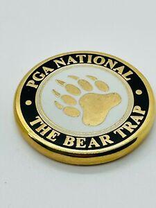 PGA National The Bear Trap Black Magnetic Ball Marker Coin Medallion Mint Rare