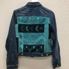 Joann Fabrics Junior Small Jean Jacket With patchwork Corduroy embellishments