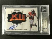 MASON RUDOLPH 2018 PANINI FLAWLESS LOGO PATCH AUTO ROOKIE RC BGS 9 10 TRUE 1of1