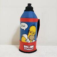 Vintage The Simpsons Homer D'oh Water Bottle 2005 Fox 89230W Matt Groening Blue